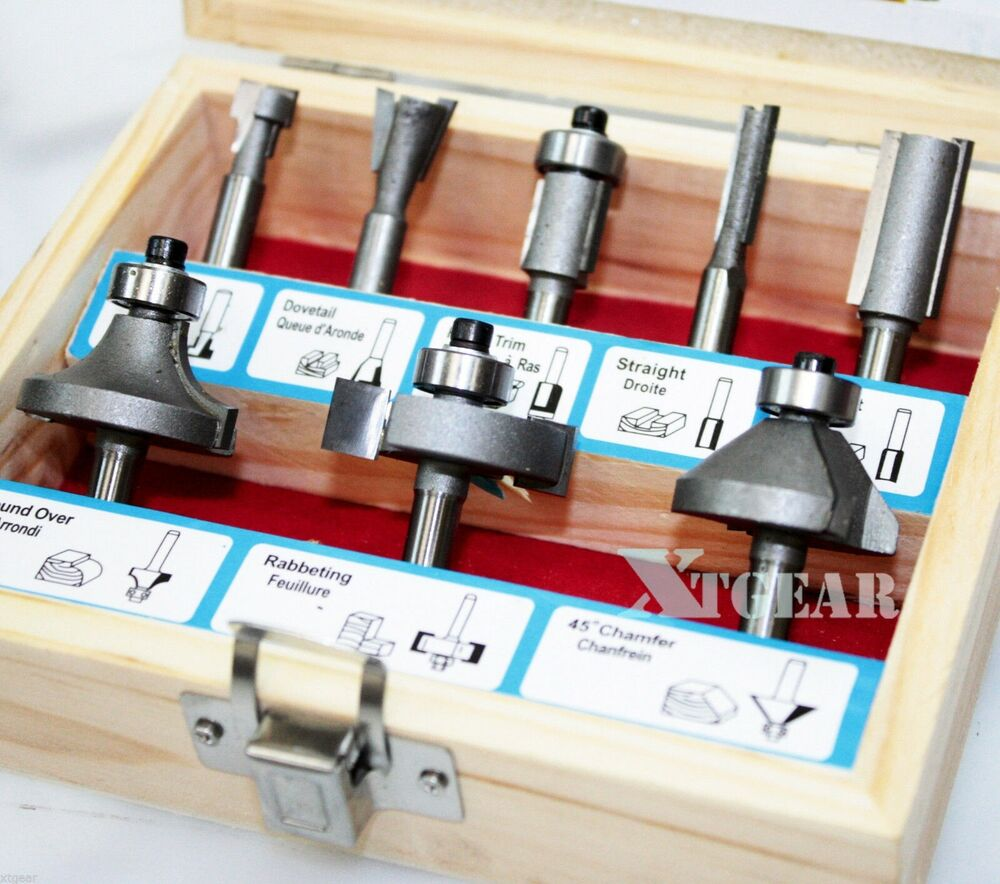 1 4 Quot Woodworking Cutter Bits 9pc Tugsten Carbide Router