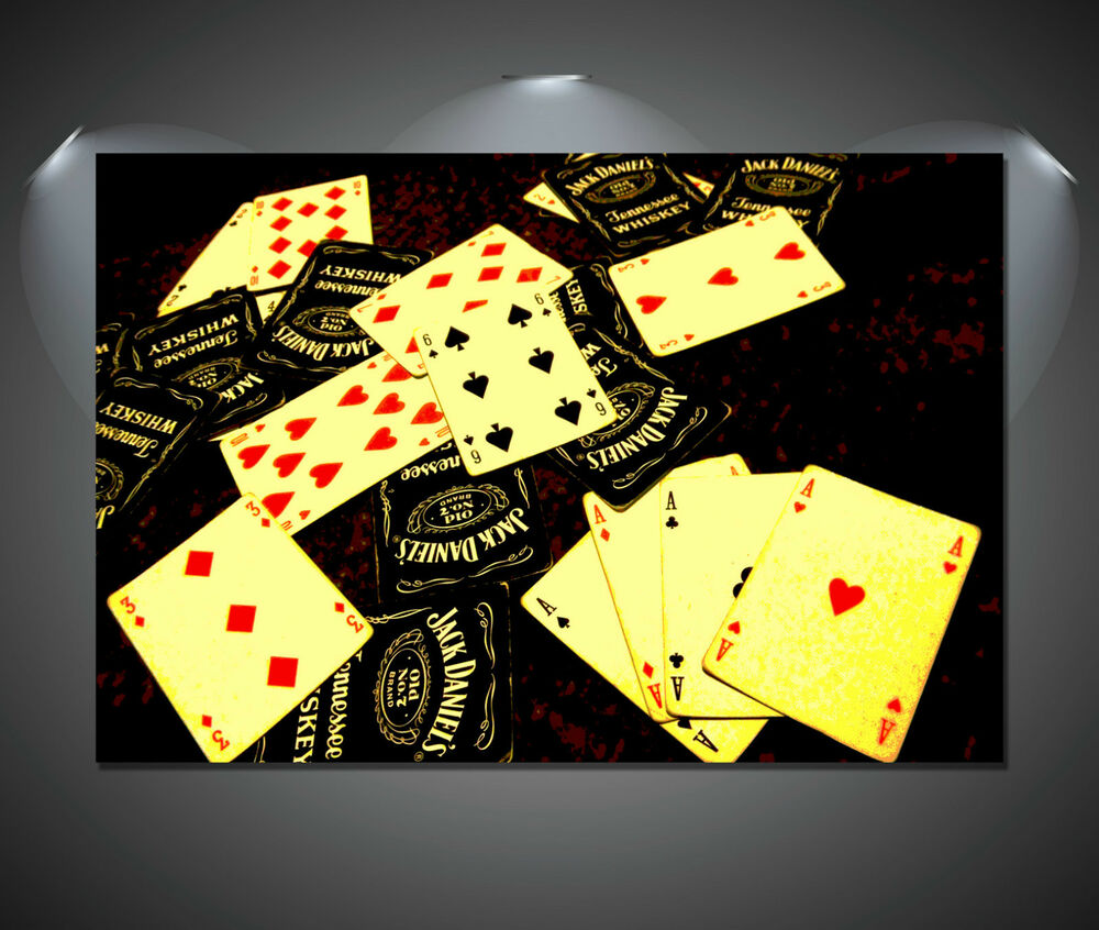 Jack Daniels Playing Cards Art Poster - A1, A2, A3, A4 ...