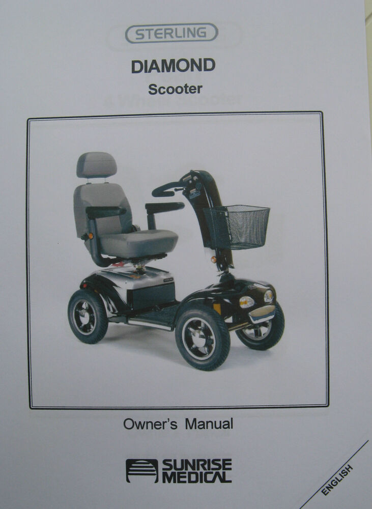 sterling diamond scooter user owner instruction manual guide ebay Pride Mobility Scooter Parts Pride Victory Scooter Parts