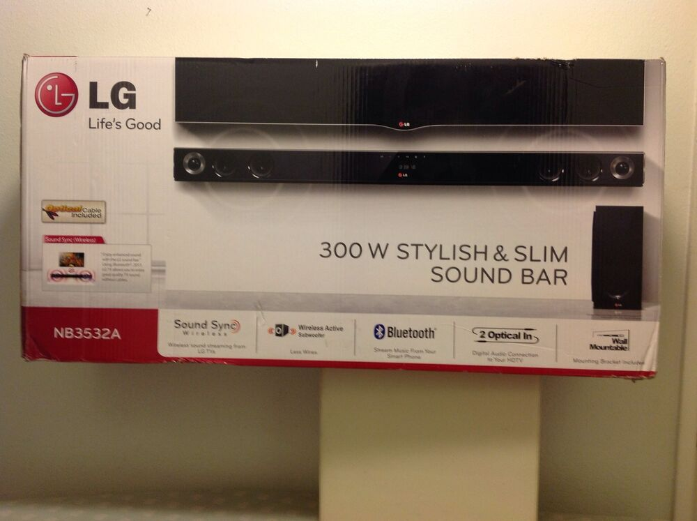 Lg Nb3532a 2 1 300w Sound Bar With Wireless Subwoofer And Bluetooth Streaming Ebay