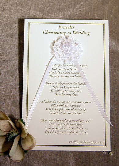 Nip Girl Christening Baptism To Wedding Bracelet Poem