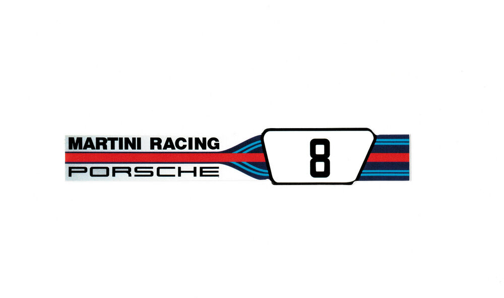 orig f r porsche aufkleber porsche martini racing neu. Black Bedroom Furniture Sets. Home Design Ideas