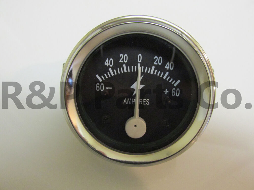 60 amp amperage ammeter gauge for allis chalmers. Black Bedroom Furniture Sets. Home Design Ideas