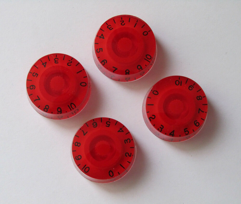 4x red lp guitar control knobs speed dial knobs for les paul guitar ebay. Black Bedroom Furniture Sets. Home Design Ideas