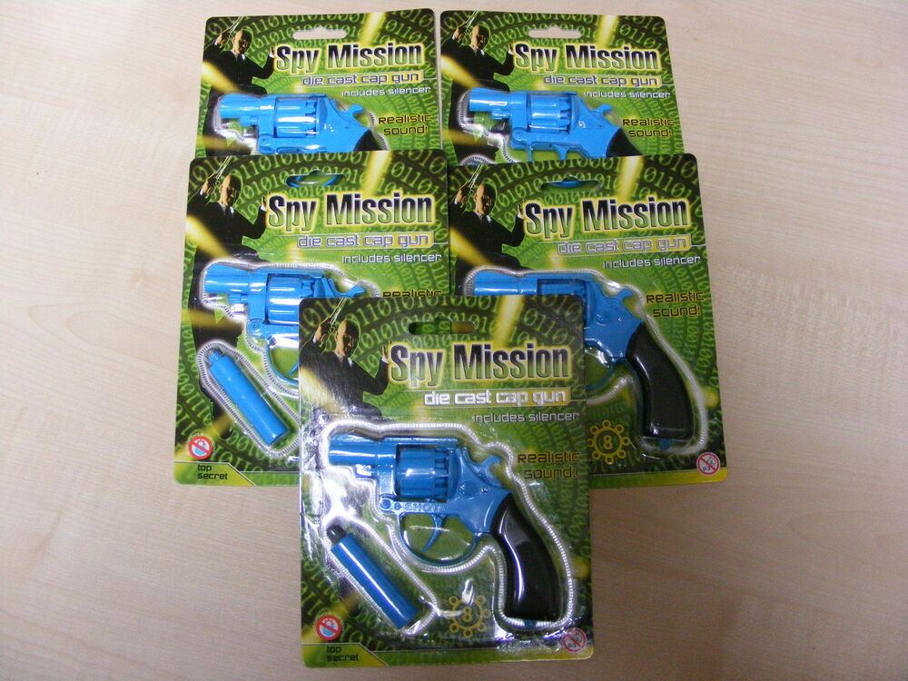 Toys For Caps : Small blue diecast die cast metal toy cap guns uses