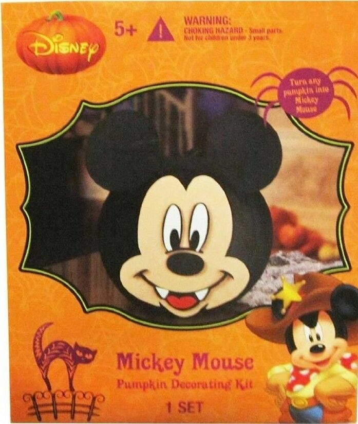 Halloween disney vampire mickey mouse pumpkin decorating for How to paint a mickey mouse pumpkin