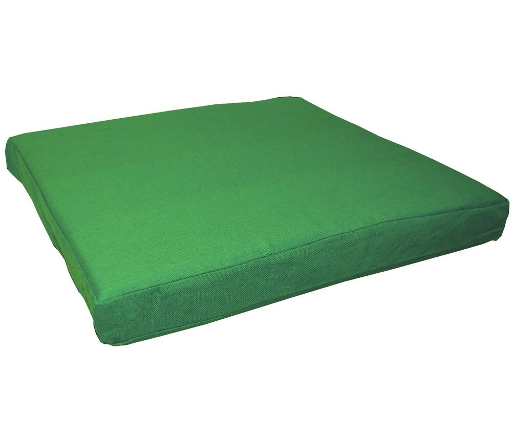 Aa145t Green Cotton Canvas 3d Box Sofa Seat Cushion Cover