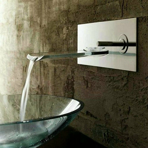 wall mount bathroom sink faucet nickel brushed wall mount bath basin faucet waterfall sink 24532