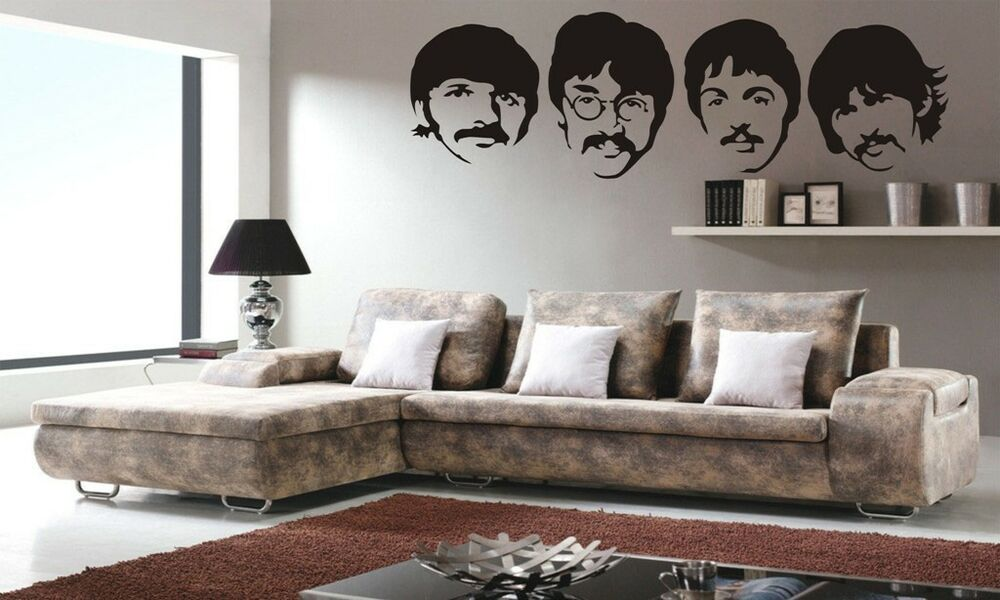 The beatles wall decor vinyl decal sticker removable kids for Beatles bedroom ideas