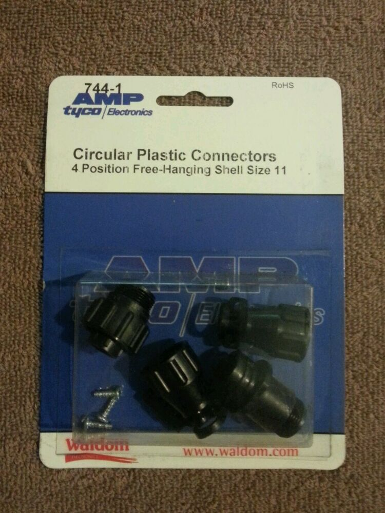 amp tyco electronics 744 1 circular plastic connectors ebay. Black Bedroom Furniture Sets. Home Design Ideas