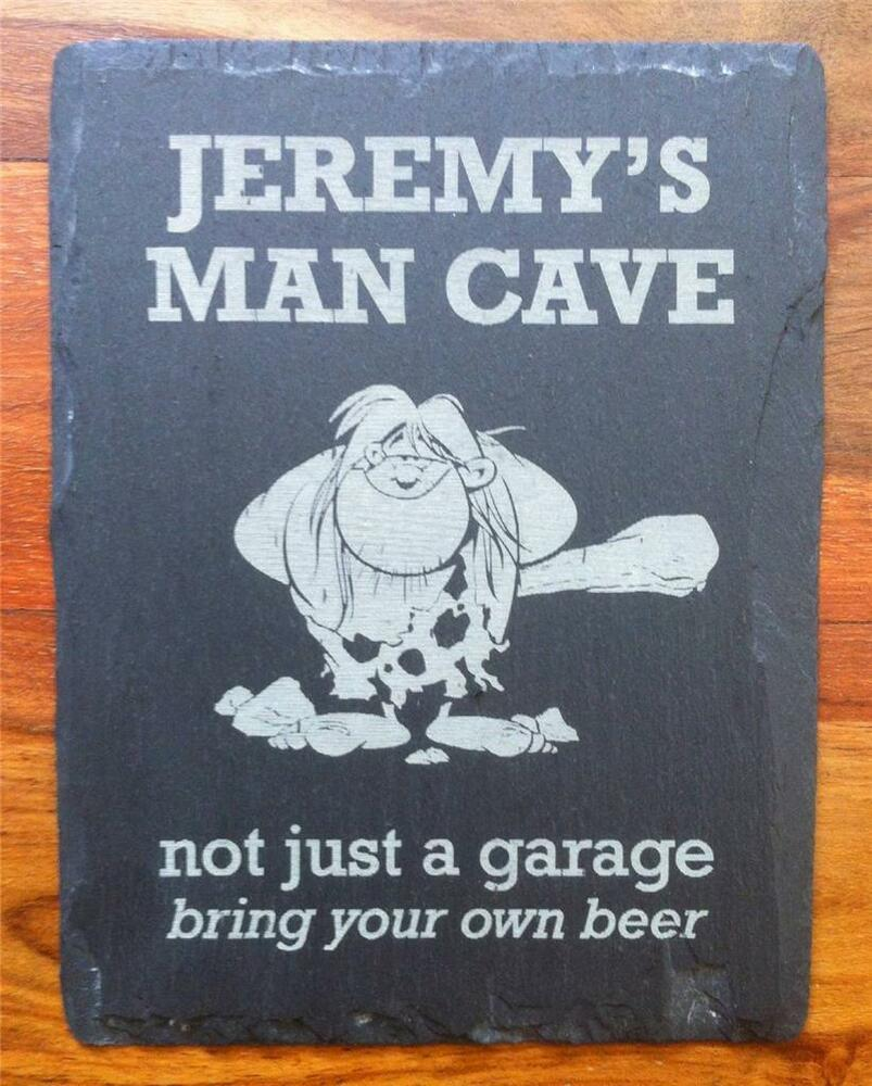 Man Cave Signs Personalised : Slate man cave sign plaque personalised engraved bedroom
