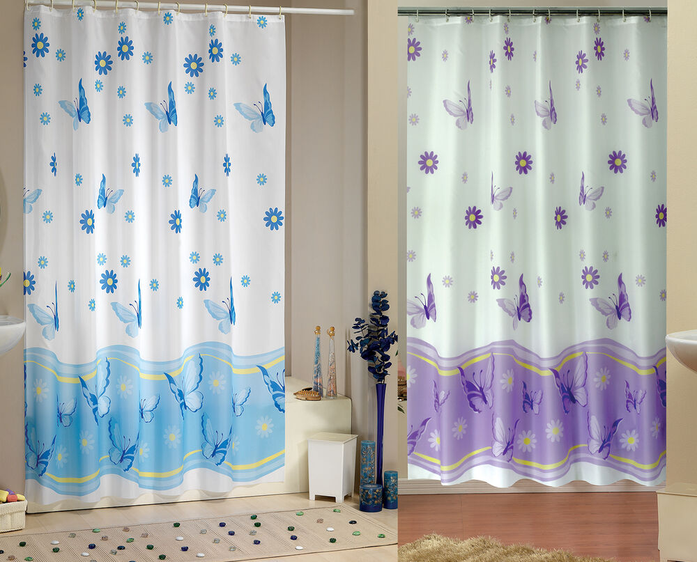 Elegant Extra Long And Wide Fabric Shower Curtain Two