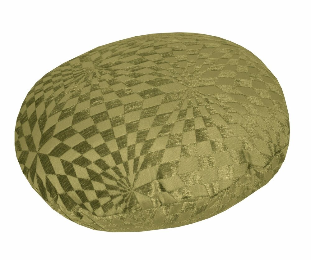 Round Throw Pillow Covers : wg04n Olive Lime Geometric Check Round Shape Throw Pillow CASE Cushion COVER*Siz eBay