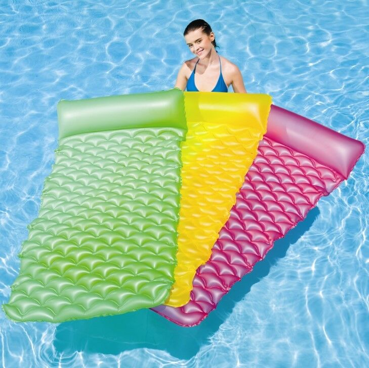 Bestway inflatable float 39 n roll air mat lilo 44020 for Colchonetas piscina originales