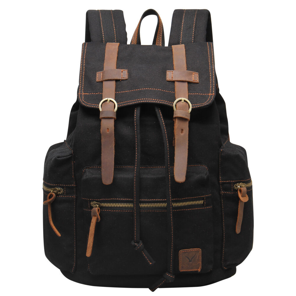 Vns Classic Rucksack Men S Backpacks Canvas Leather
