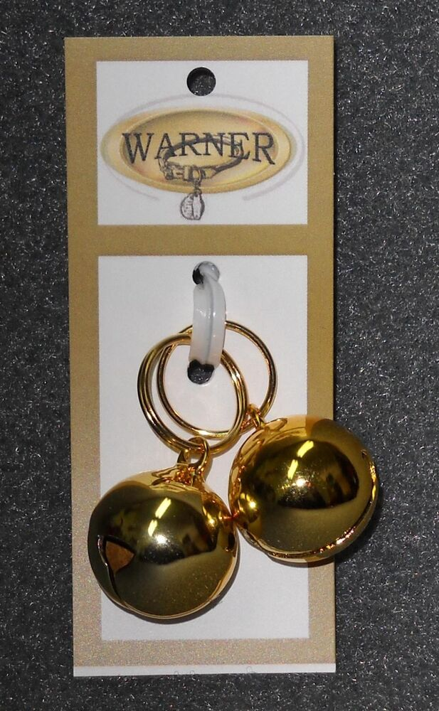 WARNER SMALL GOLD COLORED STEEL PET JINGLE BELLS FOR DOG ...