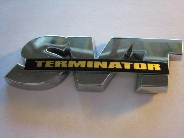 svt logo plate terminator satin gold 2003 2004 cobra mustang ebay. Black Bedroom Furniture Sets. Home Design Ideas