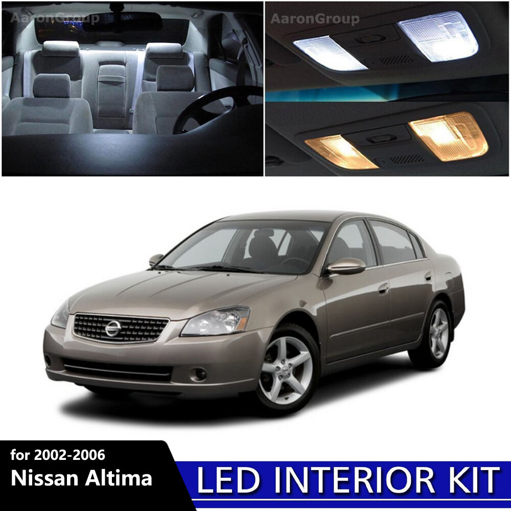 9pcs white interior led light package kit for nissan 2002 2006 nissan altima ebay