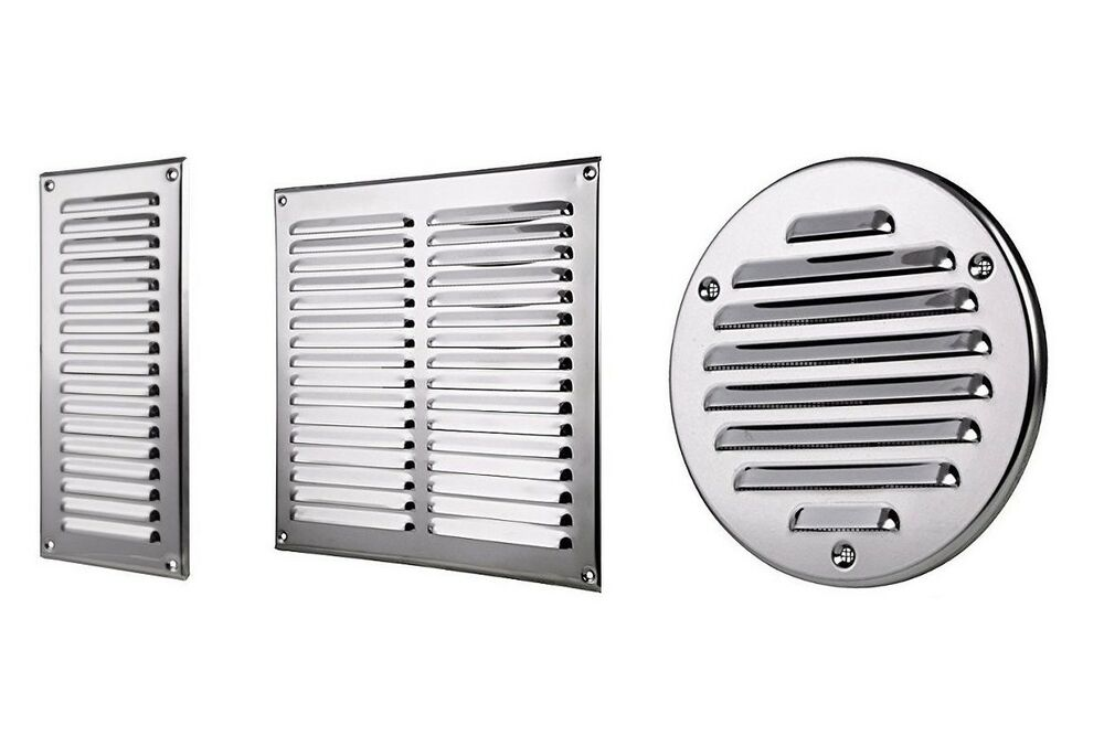 Stainless Steel Air Grille : Stainless steel air vent grille metal ventilation cover
