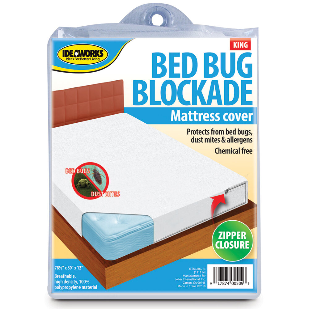 Bed bug mattress cover bockade zipper dust mites allergens for Dust mite and bed bug mattress covers