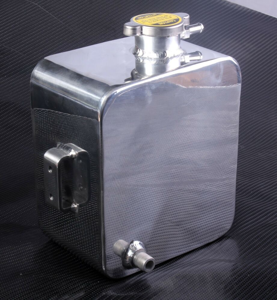 Inline Expansion Tank : Coolant water expansion tank bottle header aluminium