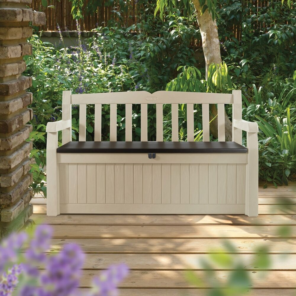 Keter Eden 70 Gal All Weather Outdoor Patio Storage Bench