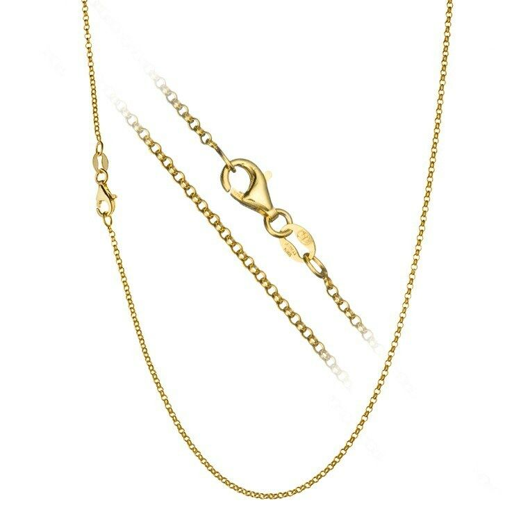 18k Gold Over Sterling Silver 1 7mm Italian Rolo Link