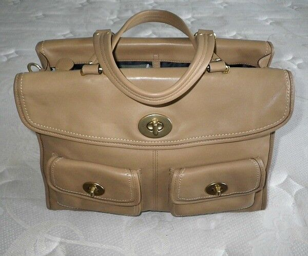 Coach Hamptons CAMEL TAN Leather Legacy Laptop Travel Briefcase Business Bag WOW | EBay