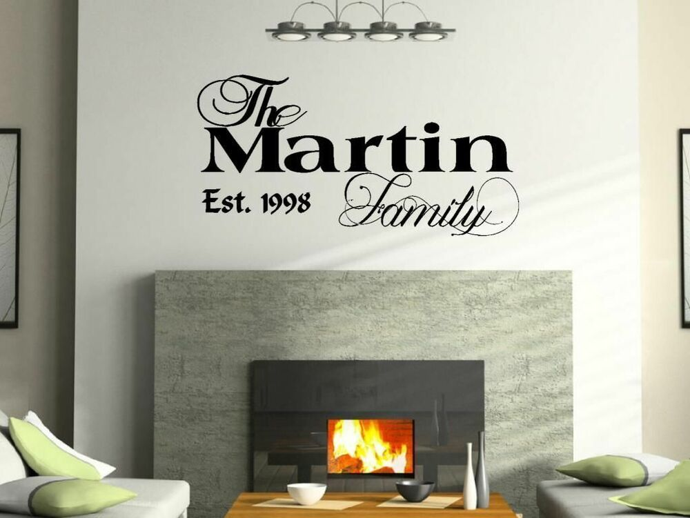 vinyl lettering for walls 36 quot personalized custom family name wall decal vinyl 25439 | s l1000