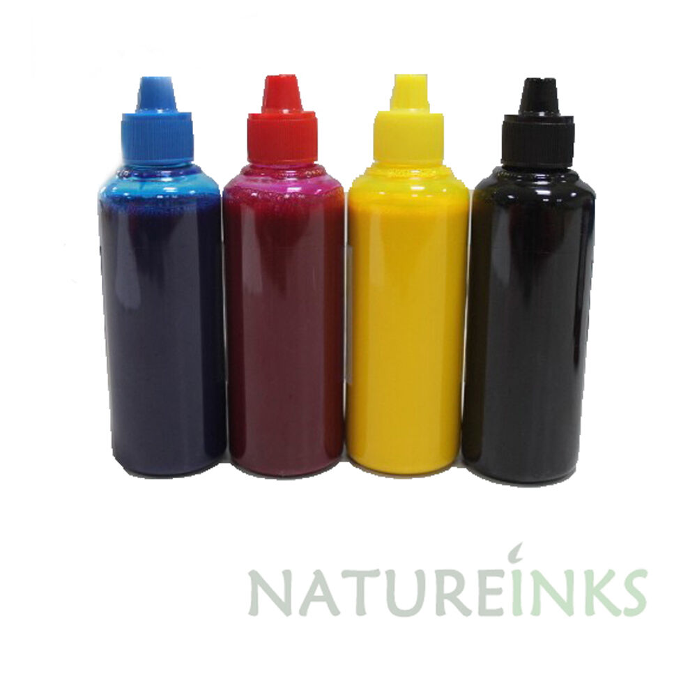 4 Pigment dye Refill Printer Ink Bottles kit for Canon ...