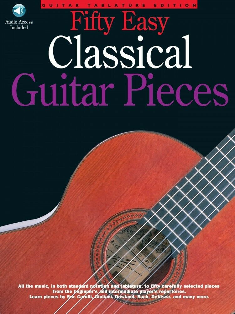 Simple Book Cover Guitar : Easy classical guitar pieces sheet music book and cd