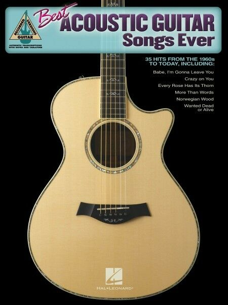 best acoustic guitar songs ever sheet music guitar tablature book new 000690859 ebay. Black Bedroom Furniture Sets. Home Design Ideas