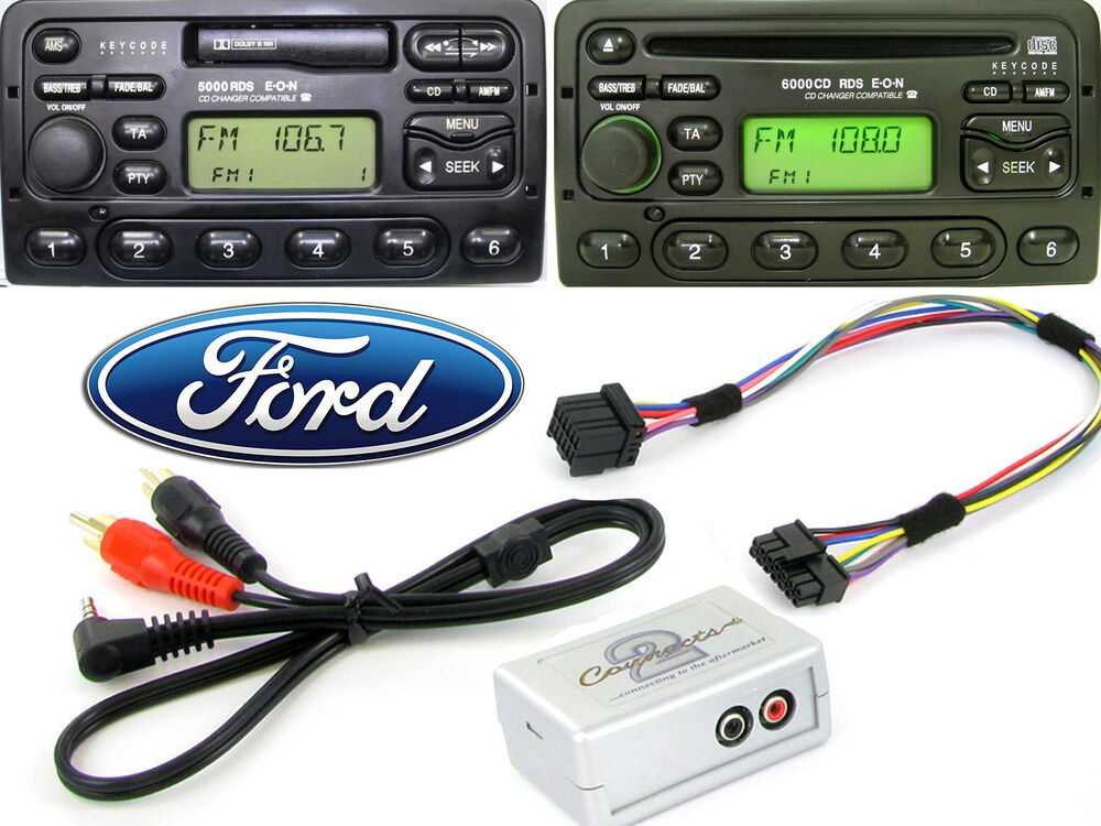 Gps Ford Focus >> Ford AUX input adapter interface in car stereo 4050 5000 6000 7000 9000 Europe 5060090052292 | eBay