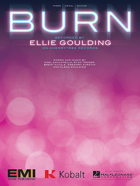 Burn Sheet Music Piano Vocal Ellie Goulding New 000125669