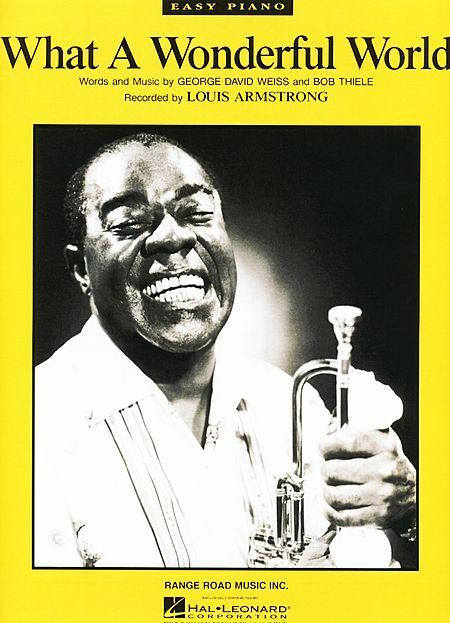 What A Wonderful World Sheet Music Easy Piano Louis Armstrong New 000110039 Ebay