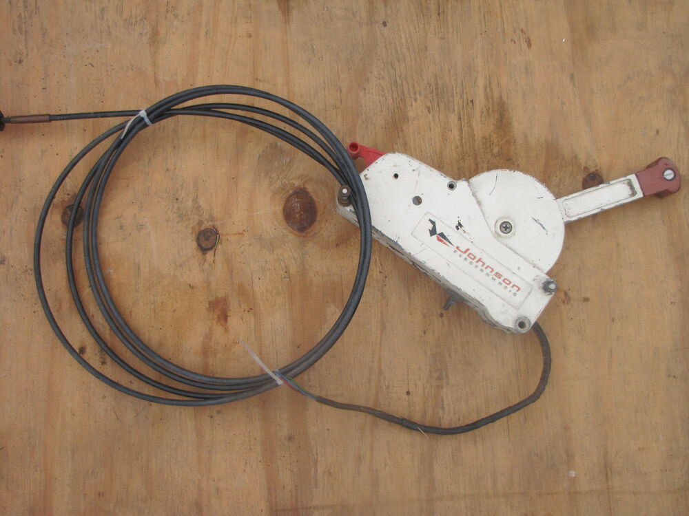 Johnson Electromatic Control Box Throttle With Cables Boat