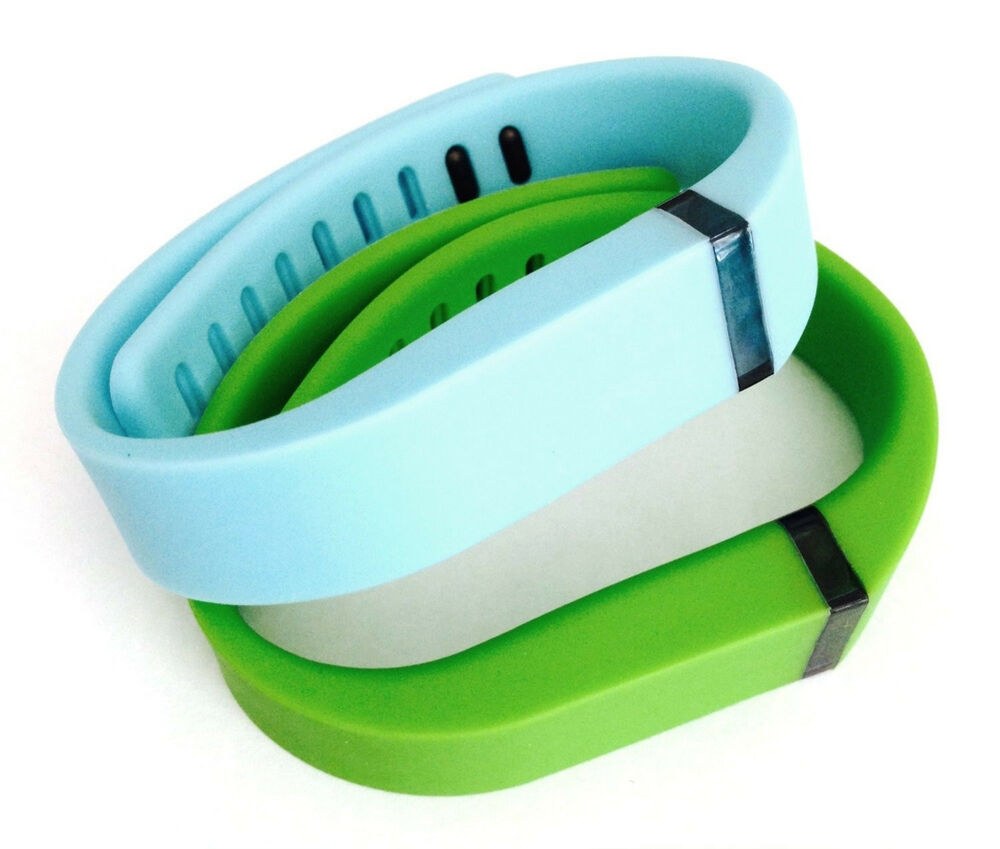 2 large LIGHTBLUE, Lime GREEN for FitBit FLEX Wristband ...