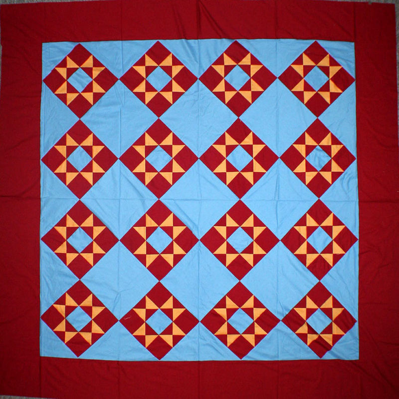 Patchwork Amish Dreams, Ohio Star Quilt - Great colors ...