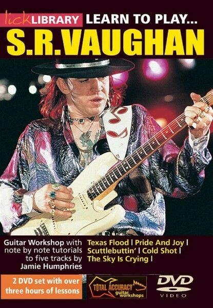 learn to play stevie ray vaughan guitar technique lick library dvd new 000393030 ebay. Black Bedroom Furniture Sets. Home Design Ideas