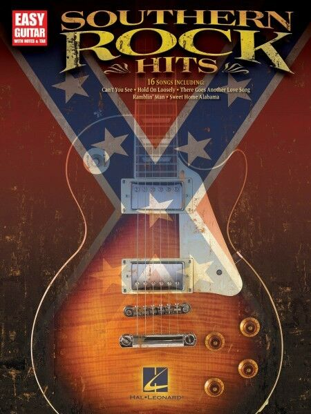 Simple Book Cover Guitar ~ Southern rock hits sheet music easy guitar book new
