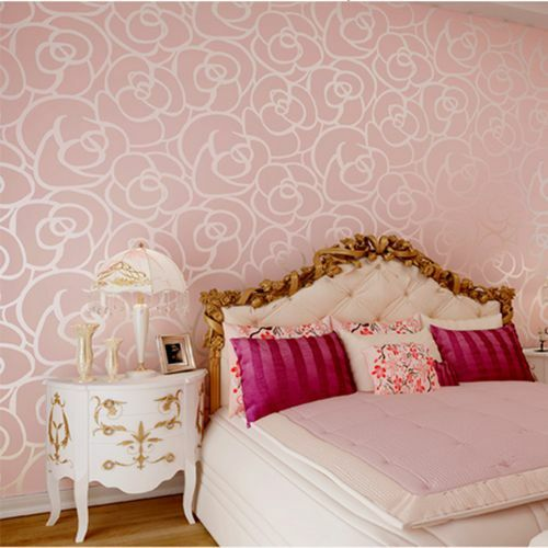Luxury modern wall paper wallpaper roll 3 colors gold for 3d rose wallpaper for bedroom