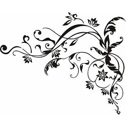 Vine Frame for corners large   vinyl wall decal