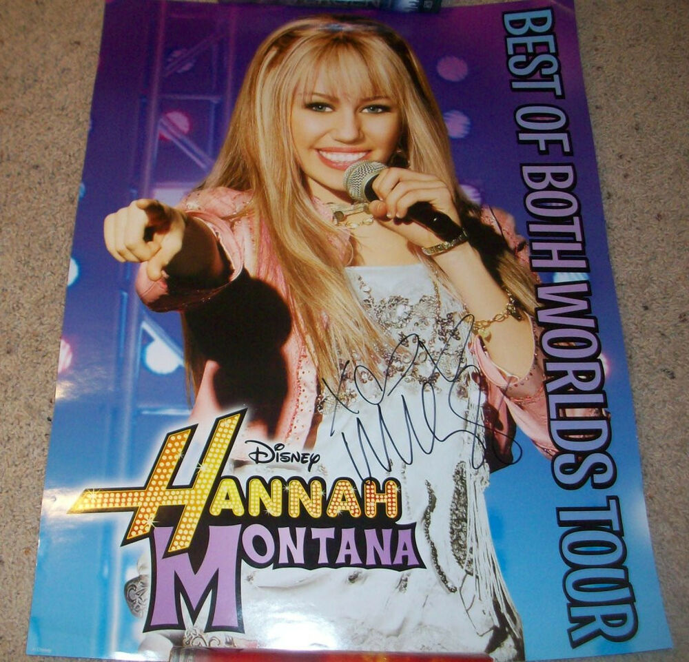 ... SIGNED HANNAH MONTANA 18x24 CONCERT POSTER w/PROOF AUTOGRAPH | eBay