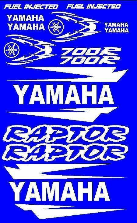 Stickers Decals Graphics Kit For Yamaha Raptor 700 Fender