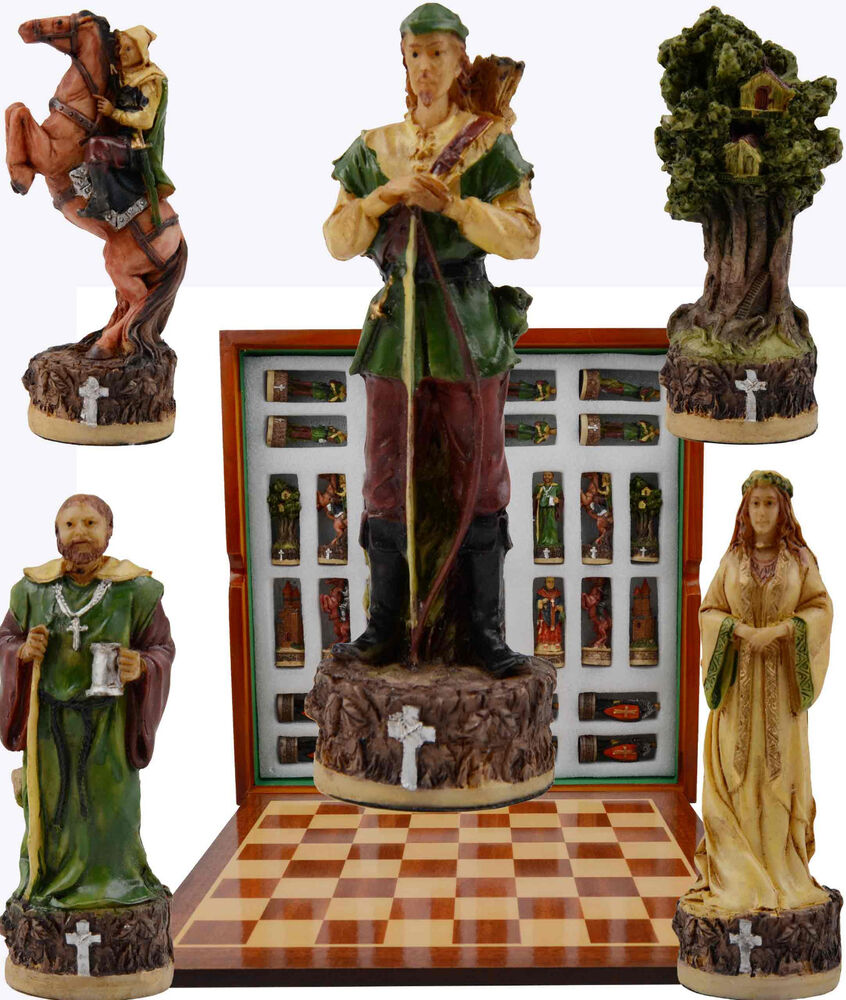 Robin Hood Prince Of Thieves Chess Set 32 Pieces Beautiful And Unique Ebay