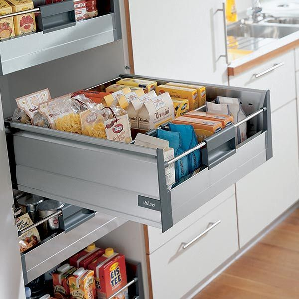 Blum tandembox 39 plus 39 inner deep drawer kit with blumotion soft close h 203mm ebay for Bedroom furniture soft close drawers