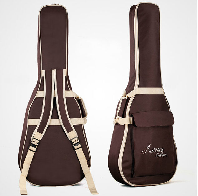 astraea advanced waterproof padded acoustic guitar gig bag soft case strap coffe ebay. Black Bedroom Furniture Sets. Home Design Ideas