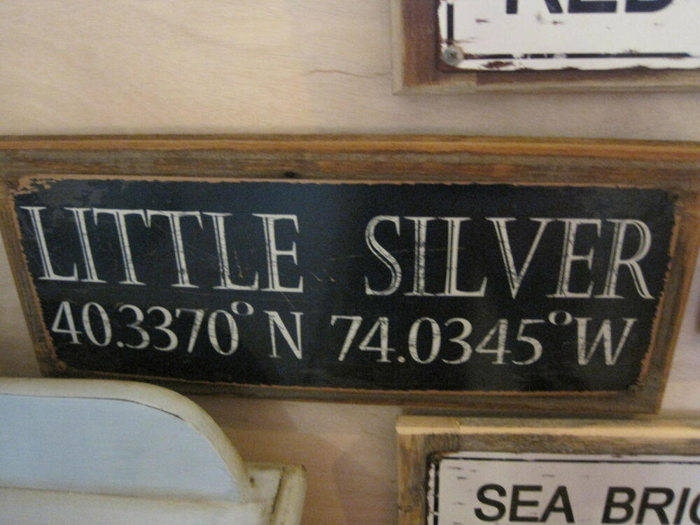 Little Silver Sign Custom Wooden Sign Beach Decor