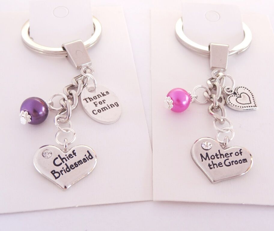 Female Wedding Keyrings Favours Table Gifts Bride Mother Groom Sister Bridesmaid Ebay