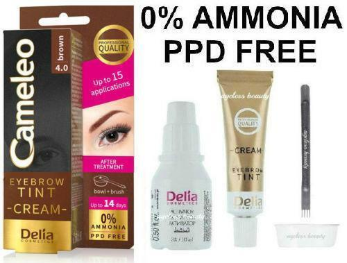 Eyebrow brown color tint henna cream kit set dye no for Cathy doll real brow 4d tattoo tint